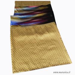 Luxury bed runner velvet colors and gold damask
