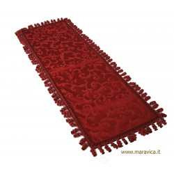 Elegant luxury damask table strip handmade made in Italy