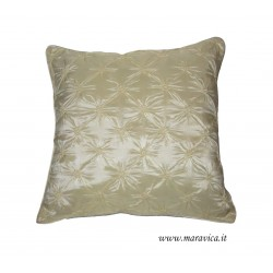 Cuscino arredo elegante  avorio in taffetà capitonnè