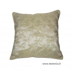 Cuscino arredo elegante panna avorio in taffetà capitonnè