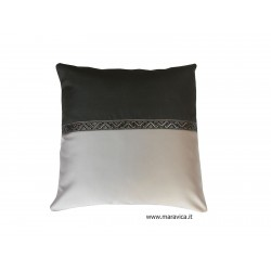 Modern throw pillow light and dark gray made in Italy