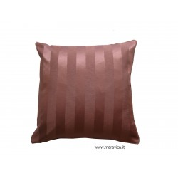 striped cushion pink handmade made in Italy