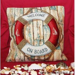Gobelin pillow marine style lifebuoy