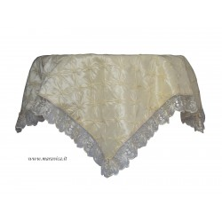 Shabby chic centerpiece tablecloth in silk taffeta with...
