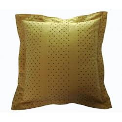 Cuscino testata letto giallo oro e blu cm 70x70