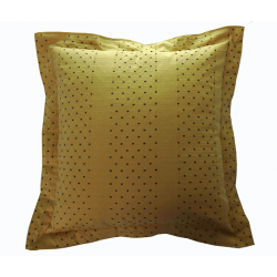 Decorative pillow cushion golden yellow and blue 70x70 cm...