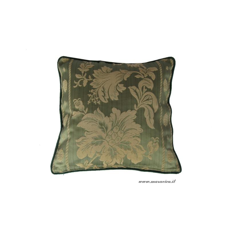 Cuscini Classici.Cuscino Divano Elegante Verde E Oro Fantasia Floreale