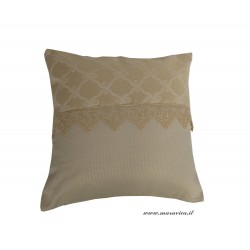 Shabby chic cushion ivory with lace handmade made in Italy