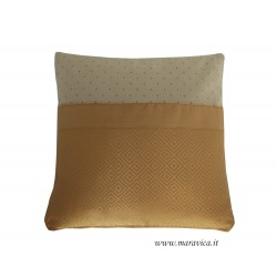 Elegant luxury beige and gold decorative cushion handmade...