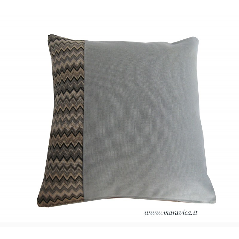 Cuscino arredo decorativo moderno missoni grigio blu fatto - Copritavolo moderno ...