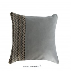 Modern cushion 40x40 geometric pattern gray-blue made in...