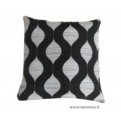 Cuscino arredo moderno bianco e nero