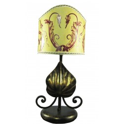 Lamp abat jour in wrought iron Sicilian baroque home...