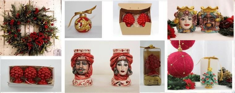 Decorazioni natalizie in ceramica di Caltagirone