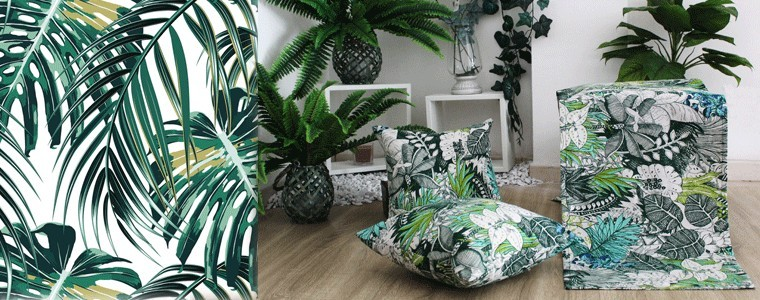 tropical style furnishing textiles