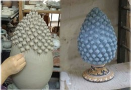 The fascinating meaning of the Sicilian ceramic pine cone